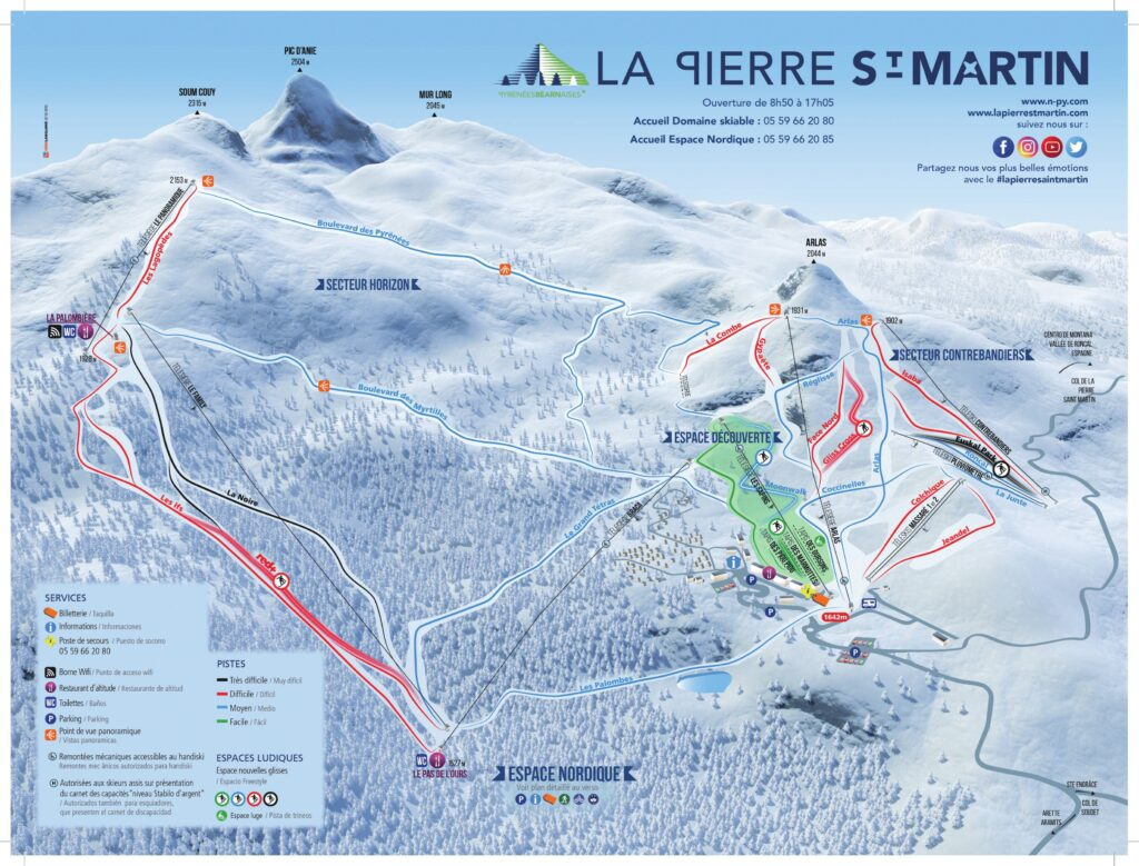Skiez et explorez La Pierre Saint Martin